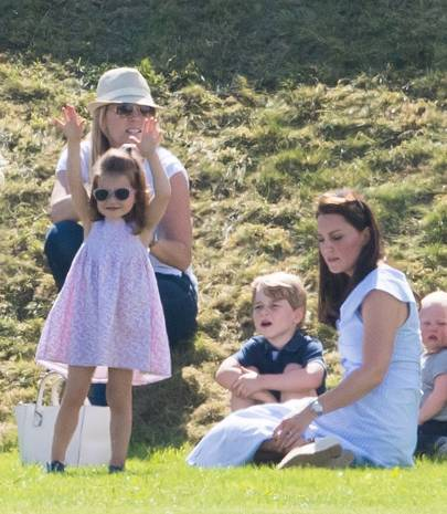 Princess Charlotte, Prince George and the Duchess of Cambridge