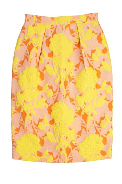 Brocade skirt, £690, by Miu Miu