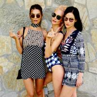 Emily Ratajkowski, Poppy Delevingne and Leigh Lezark