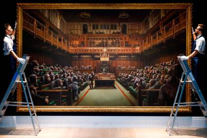Banksy's ape-riddled House of Commons sells for record-breaking £9.9 million