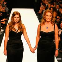 Princess Beatrice and Sarah, Duchess of York walk the Fashion for Relief show, S/S08