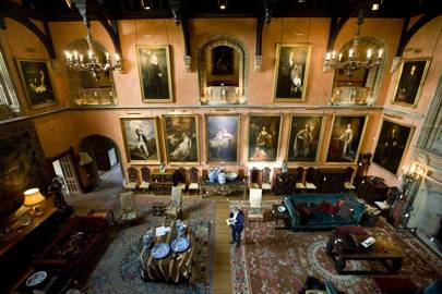 Cowdray Park House's Buck Hall in its heyday