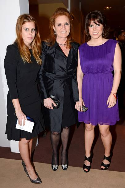 Princess Beatrice, The Duchess of York and Princess Eugenie