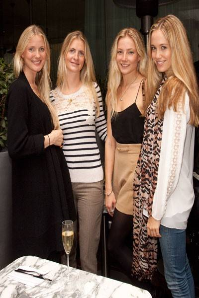 Willow Crossley, Chloe Delevingne, Clara Paget and Florence Brudenell-Bruce