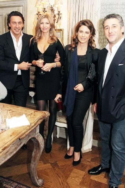 Vadim Lapin, Anoushka Lapin, Francesca Versace and Luca del Bono