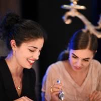 Caroline Issa and Amber Le Bon
