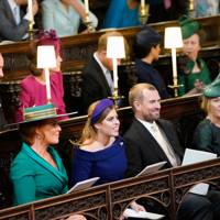 The Duke and Duchess of Cambridge, the Duke and the Duchess of Sussex, Anne, the Princess Royal, Sarah, Duchess of York, Princess Beatrice, Peter Phillips and Autumn Phillips