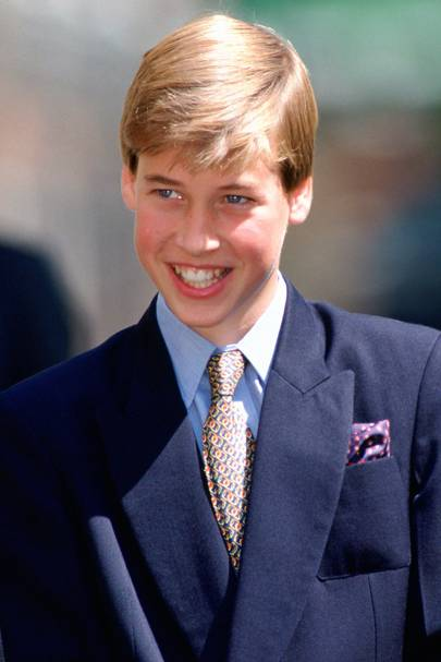 The Duke of Cambridge outside Clarence House in 1995, aged 13