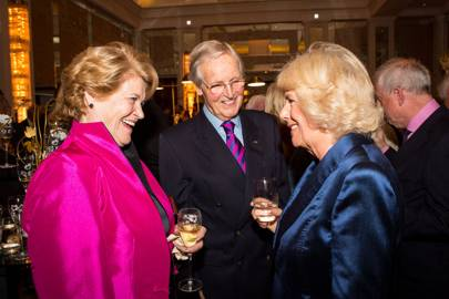 The Duchess of Cornwall, Nicholas Parsons and Ann Reynolds-Parsons