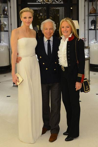 Princess Charlene of Monaco, Ralph Lauren and Ricky Lauren