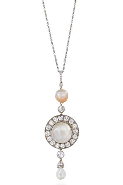Pearl and diamond necklace, £13,000, Humphrey Butler