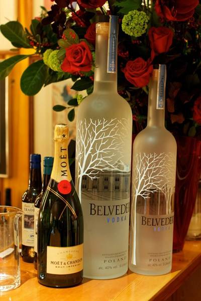 Moët & Chandon and Belvedere Vodka cocktails