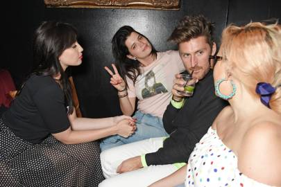 Daisy Lowe, Pixie Geldof, Henry Holland and Aimee Phillips