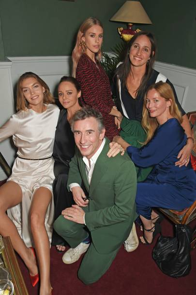 Arizona Muse, Stella McCartney, Steve Coogan, Mary Charteris, Rosemary Ferguson and Lucie de la Falaise