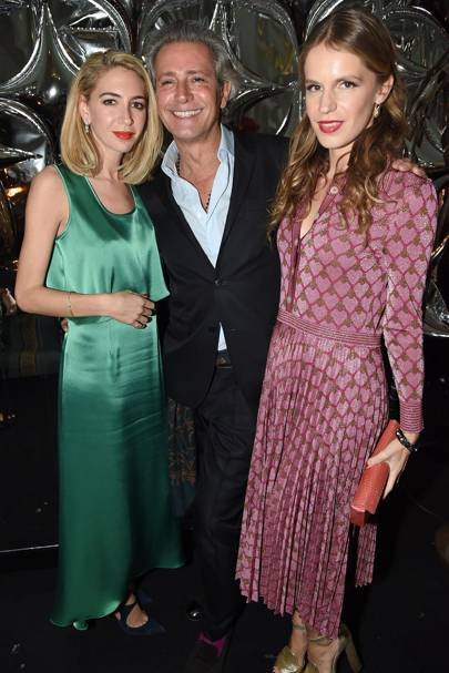 Sabine Getty, Carlos Souza and Eugenie Niarchos