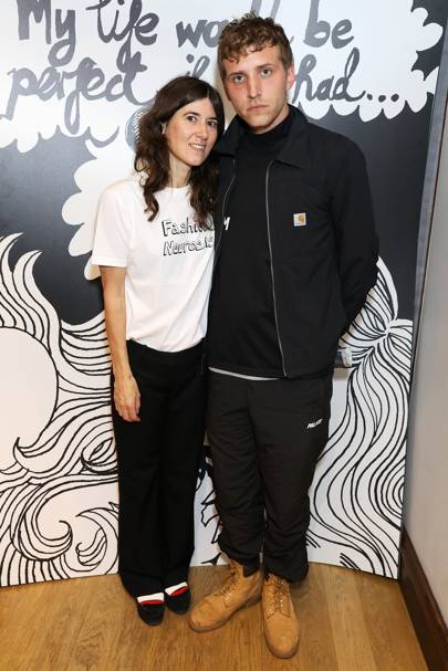 Bella Freud and Nathan Mitchell