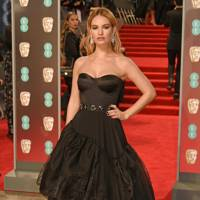 Lily James in Stella McCartney