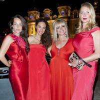 Julie Brangstrup, Lilly Becker, Jo Wood and Jodie Kidd in Monte Carlo