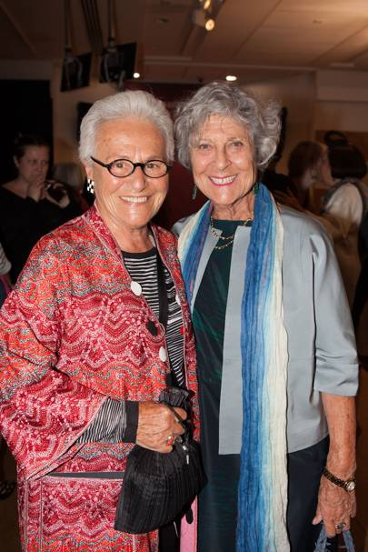Rosita Missoni and Joan Burstein