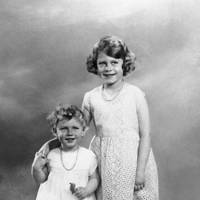 1934: Aged two, with Princess Elizabeth, aged six