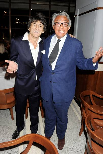 Ronnie Wood and Sir David Tang, 2012