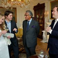 Sasha Donn, Rudi Kainz, Sir David Tang and Tom Parker Bowles