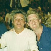 Rod Stewart and Peter Burrell