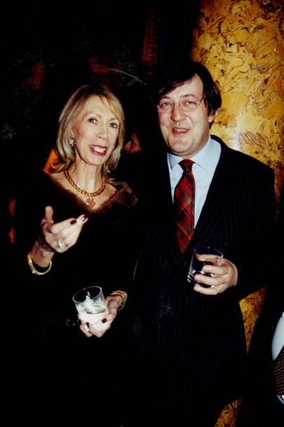 Mrs Stuart Sapcote and Stephen Fry