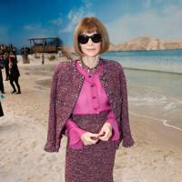 Anna Wintour at the Chanel show.