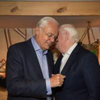 Martyn Lewis and Mike Dickson