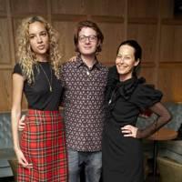 Phoebe Collings-James, Dominic Jones and Lady Amanda Harlech