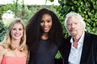 Holly Branson, Serena Williams and Sir Richard Branson