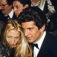 Carolyn Bessette and John Kennedy