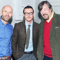 Richard Cook, Luke Evans and Stephen Fry