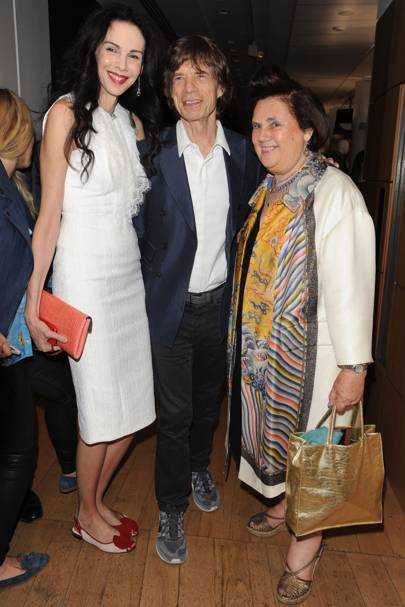 Mick Jagger, Suzy Menkes and L'Wren Scott