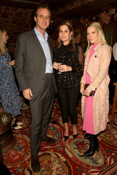 Peter Sartogo, Aerin Lauder and Alice Naylor Leyland