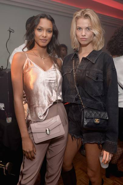 Lais Ribeiro and Hailey Clauson