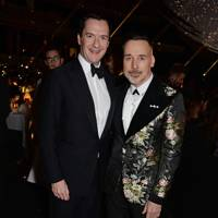 George Osborne and David Furnish