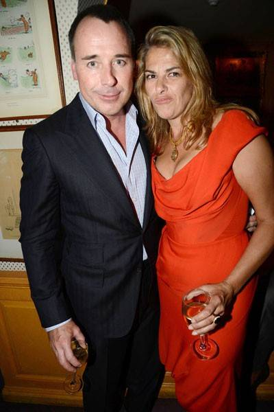 David Furnish and Tracey Emin