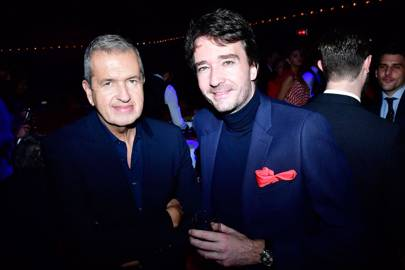 Mario Testino and Antoine Arnault