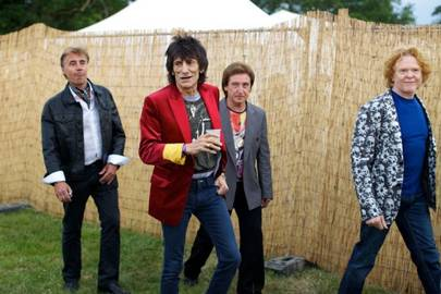 Glen Matlock, Ronnie Wood, Kenney Jones and Mick Hucknall