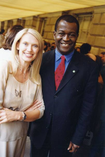 Anneka Rice and Baz Bamigboye