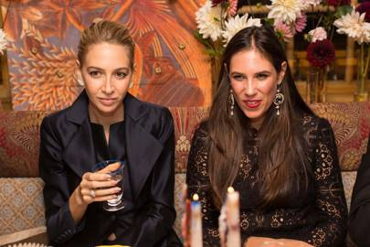 Sabine Getty and Tatiana Santo Domingo