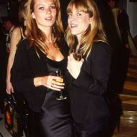 Kate Moss and Jessica Hallett
