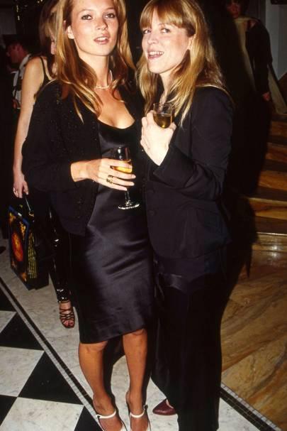 Kate Moss and Jessica Hallett