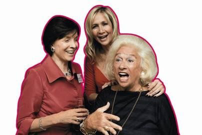 Lady Archer, Tania Bryer Moufarrige and Joy Bryer