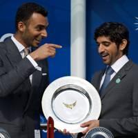 Sheikh Suhaim Al Thani and Sheikh Hamdan Bin Mohammed Al Maktoum