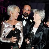 Dame Helen Mirren, Evgeny Lebedev and Dame Maggie Smith