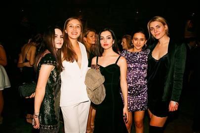 Cosima Elwes, Victoria Harman, Sophia Oman, Camilla Chumaceiro and Jackie Fyrwald