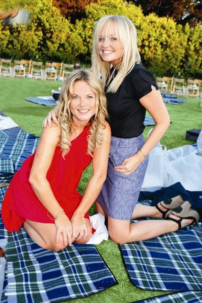 Geri Halliwell and Emma Bunton